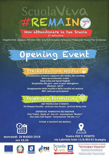 Opening  event - Scuola Viva